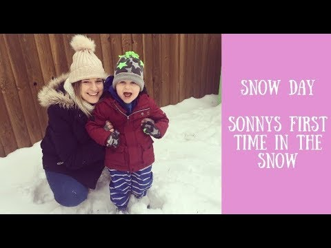 SNOW DAY | SONNY'S FIRST TIME IN THE SNOW