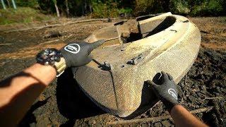 Found Lost Sunken Boat in Drained Lake! (Explored for Potential Treasure) | DALLMYD