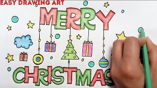 How To Draw Easy And Colour Christmas Bell Drawing For Kids