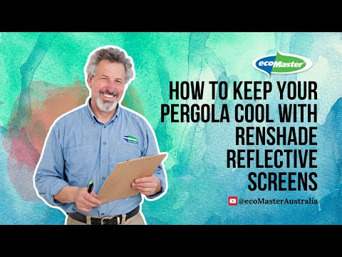 How to Keep Your Pergola Cool with Renshade Reflective Screens | by ecoMaster