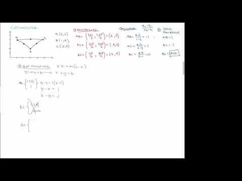 Basic Geometry: Calculate the circumcenter of a triangle