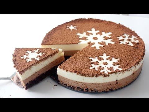 Chocolate Snowflake Mousse Cake   RECIPE