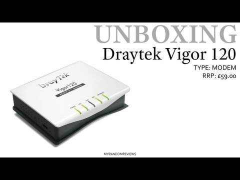 Draytek Vigor 120 - Modem for Airport Extreme - Unboxing