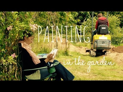 Watercolor Tutorial: Plain Air Painting at the Allotment