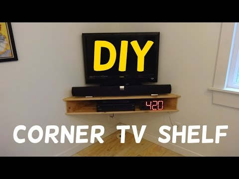 Build this Floating Corner TV Stand!