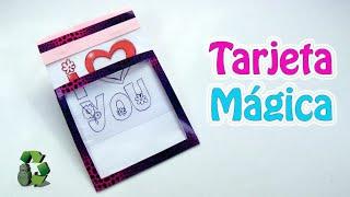 Hoy te digo como se hace una tarjeta mágica, ideal para regalar, cumpleaños, dia del padre, dia de la madre, novio, novia, san valentin, dia de la amistad y más, puedes personalizarla y poner la imagen o mensaje que tu quieras! Muy fácil!!!  ----------▼MÁS INFORMACIÓN▼-------- ►Suscríbete a Ecobrisa: http://bit.ly/10DWTfP $ Apoya este canal: http://bit.ly/1Y5LbKH ✭Nuevo video todas las semanas ------------------------------------------------- También te puede interesar: -Tarjeta corazón con CD: http://bit.ly/1pscot8 -Tarjeta corazón bordado: http://bit.ly/1YMDvLx -Tarjeta corazón 3D: http://bit.ly/1qHFBRP ------------------------------------------------ Si te gustó este video, házmelo saber en los comentarios con #soyecoartista -------------------------------------- ✎ MATERIALES: -Cartulina -Acetato transparente (Se compra en papelerías) -Imagen o mensaje a color -Rotulador, marcador o plumón permanente -Tijeras y cúter -Regla y lápiz -Cola blanca y cinta de doble cara -Cintas o cosas para decorar - Imagen: http://bit.ly/2d7qbRA -------------------------------------- Facebook:http://on.fb.me/1TtWoR5 Twitter: http://twitter.com/thebrisalatina Google+: http://bit.ly/1PB8Pv6 Pinterest: http://www.pinterest.com/ecobrisa/ Instagram: http://instagram.com/thebrisalatina Mi Blog: http://brisareutiliza.blogspot.com.es -------------------------------------- CONOCE MIS OTROS CANALES: Vida Fácil: http://bit.ly/1QbHqhT Clickoteca: http://bit.ly/1jcfmHv Ecobrisa DIY: http://bit.ly/1YCBC8l