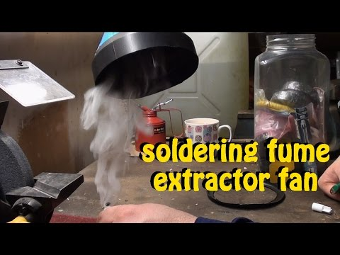 How to build a DIY soldering fume and smoke extractor fan