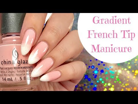 Easy Gradient French Tip Manicure Nail Tutorial!