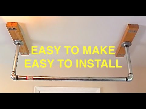 HOW TO BUILD A PULL UP BAR FOR YOUR HOUSE