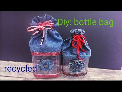 Diy: How to make a bottle bag using recycling materials