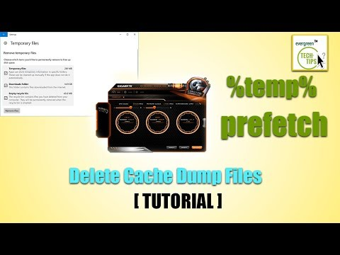 How To Clear PC Cache/ Clean Unwanted Computer Folders(temp/prefetch)