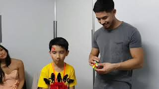 Download Philippine celebrity, Tony Lubrusca watching me solve a cube. Video