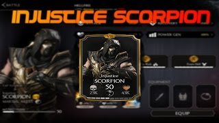 Injustice Scorpion! Mortal Kombat X (MKX) 1.3! IOS/Android Gameplay!