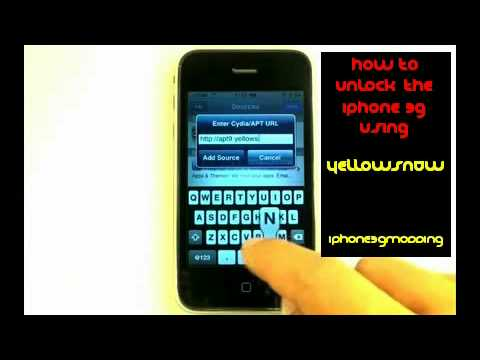 [How To] UNLOCK iPHONE 3G WiTH YELLOWSN0W