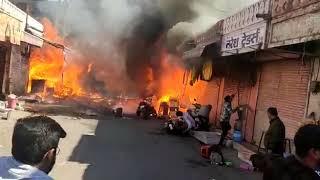 जयपुर में पटाखे की दुकान में आग | Fire in Cracker shop at Jaipur, Rajasthan