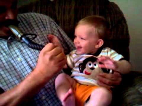 Baby laughs at deer grunt call FUNNY!!