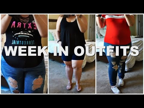 WEEK IN OUTFITS 2018 | Plus Size Fashion | BBW