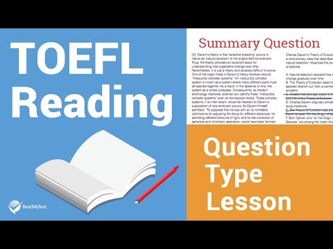 TOEFL Reading Question Type Lesson: Summary