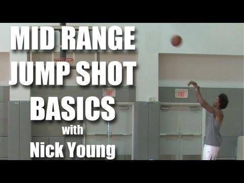 Basketball mid-range jump shot with Nick Young