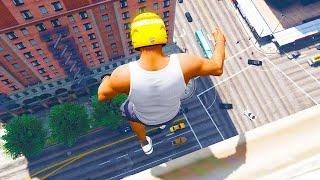 GTA 5 Jumping off Highest Buildings #12 - GTA 5 Funny Moments & Fails