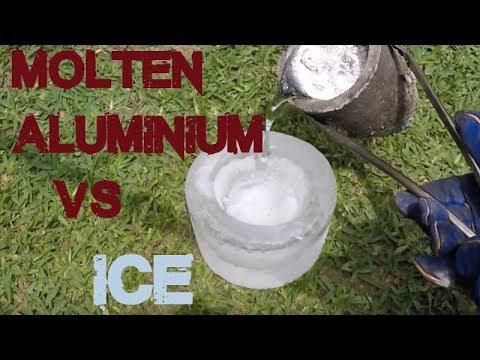 Molten Aluminium vs Ice