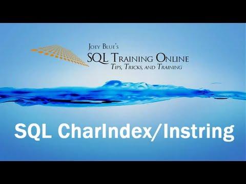 Sql Training Online - Sql CharIndex - Instring