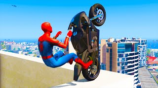 GTA 5 Spiderman Epic Jumps #6 ( Spider-Man Stunts & Fails )