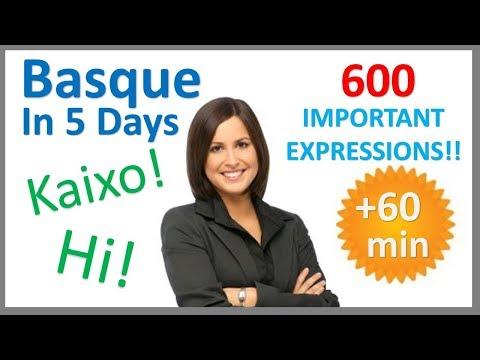 Learn Basque in 5 Days - Conversation for Beginners - Euskara