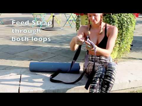 Yoga Accessories | Use your Strap to Carry your Yoga Mat