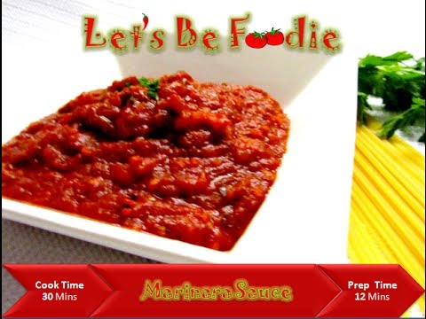 Simple and easy marinara sauce recipe for spaghetti/Italian tomato sauce recipes-let's be foodie