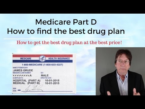 Medicare Part D Drug Plan --- How to get the best one.