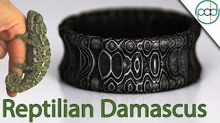 Making a Reptilian Damascus Steel Ring
