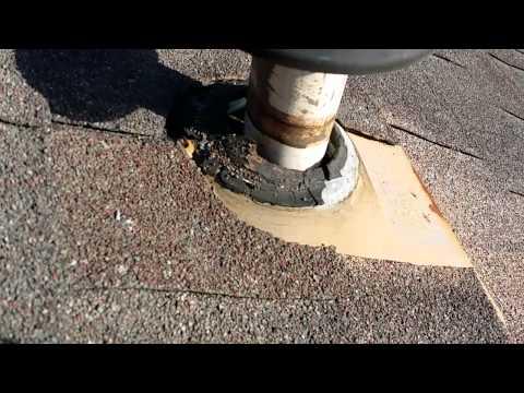Roof Warning Signs - Improper Pipe Flashing Repair
