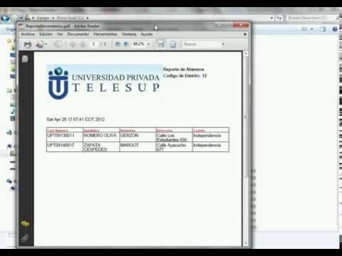Generar PDF desde base de datos MySQL en páginas JSP  Java