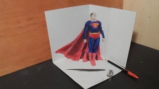 Drawing 3d Superman Artistic Graphic Heroes