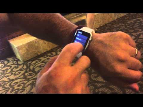 Receiving a text on the Apple Watch