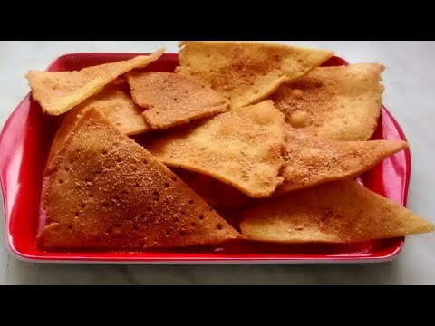 Cornmeal chips. Homemade tortilla chips. Christmas recipe.