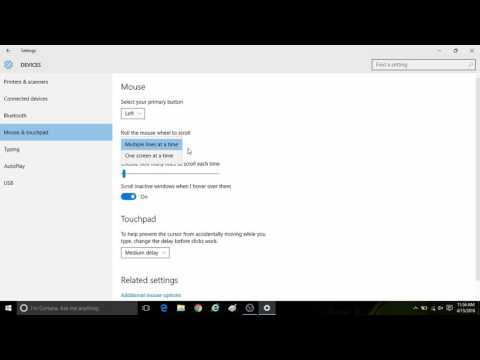 How to Change Mouse and Touchpad Settings in Windows 10