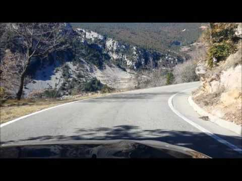 Spain: driving on pyrenees roads (LV-4241 and C-462) between Berga and La Seu d'Urgell