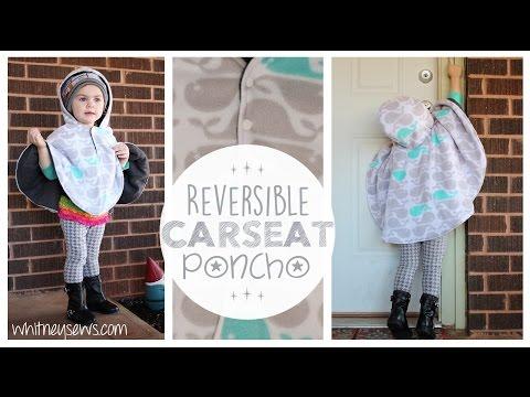 Reversible Car Seat Poncho How to   Whitney Sews