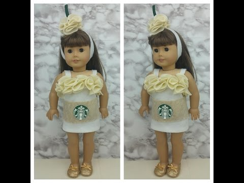 DIY Starbucks Drink Halloween Costume for AG Dolls- No Sew