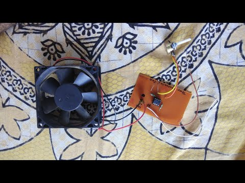 Mini Project || temperature controlled fan op-amp based || electronics project