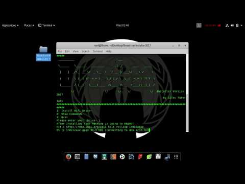 How To Install WiFi Driver in Kali Linux 2017 | Braodcom 802.11n