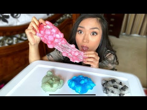 TRYING TO MAKE JELLY CUBE SLIME!