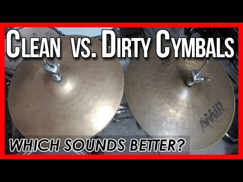 Clean vs. Dirty Cymbals - Which One Sounds Better? Cymbal Demo