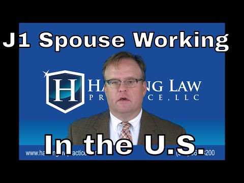 Can the spouses of J1 visa holders work in the U.S.?