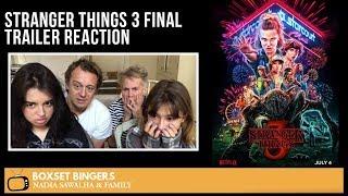 STRANGER THINGS 3 (Final Trailer) - Nadia Sawalha & The Boxset Bingers FAMILY REACTION