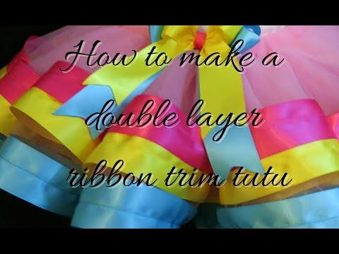 How to make a ribbon trim tutu (Minnie Mouse)