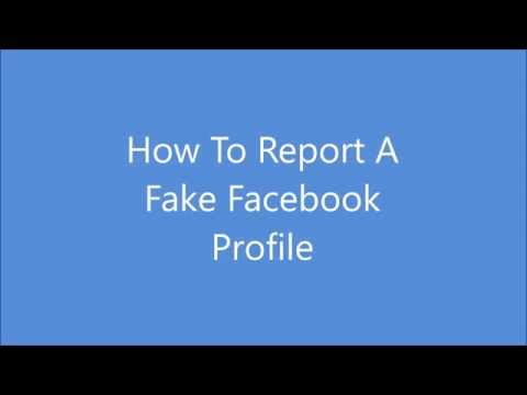 Reporting Fake Profiles On Facebook