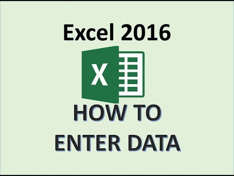 Excel 2016 - How To Enter Data in a Worksheet - Entering Data into a Workbook for Beginners MS 365